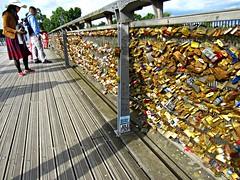 Paris 101 (AmyEAnderson) Tags: bridge locks padlocks people wood planks names paris france europe june 2016