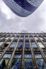 Never the twain shall meet- (www.premiumpics.co.uk) Tags: london londonbuildings londonskyline thegherkin cityscape cityoflondon reflections