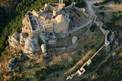 Medieval Abbey-Castle of Loarre, looking NW, Huesca, Aragon, Spain, built between XI - XIII century (mike catalonian) Tags: loarre medieval middleage architecture spain aragon abbey castle xicentury xiiicentury