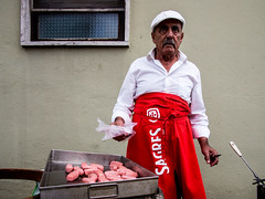 The Cooker... (pedroalves44) Tags: street streetphotography color candid red portugal public hat urban outdoor portraits