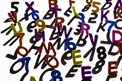 Numbers&Letters (ronventrysmith@gmail.com) Tags: numbers letters shadows alphabet symbols characters
