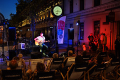 Street musician (RafalZych) Tags: street concert musician koncert uliczny woonerf lodz d polska poland colors fuji fujifilm city night lights color colour songwriter festival festiwal