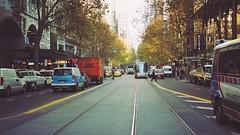 Streets of Melbourne (Ross Major) Tags: street streetscape melbourne tram tracks fog victoria olympusepm2