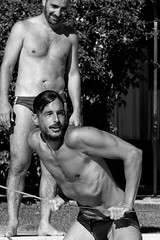 Photo by Luca Scola - All rights reserved (<NERVO> Luca) Tags: guys beard pool summer friends
