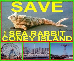 SAVE THE SEA RABBIT, official poster, design by Dr. Takeshi Yamada. Coney Island Sea Rabbit Center.  2007-01 FINAL (searabbits23) Tags: searabbit seara takeshiyamada  taxidermy roguetaxidermy mart strange cryptozoology uma ufo esp curiosities oddities globalwarming climategate dragon mermaid unicorn art artist alchemy entertainer performer famous sexy playboy bikini fashion vogue goth gothic vampire steampunk barrackobama billclinton billgates sideshow freakshow star king pop god angel celebrity genius amc immortalized tv immortalizer japanese asian mardigras tophat google yahoo bing aol cnn coneyisland brooklyn newyork leonardodavinci damienhirst jeffkoons takashimurakami vangogh pablopicasso salvadordali waltdisney donaldtrump hillaryclinton endangeredspecies save