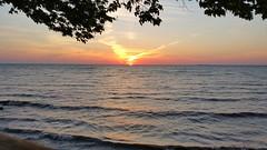Lake Erie Deep Summer Sunset (Smith6612) Tags: water lake erie buffalo ny sunset hdr waves trees beach deep summer orange