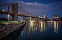 Towards the city (urbanexpl0rer) Tags: brooklynbridge brooklyn newyork manhattan skyline skyscrapers offices bridge bluehour waterreflections water urbanskyline traveldestination cityscape city capitalcity