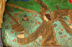 LLandeloy, Pembrokeshire (Vitrearum (Allan Barton)) Tags: llandely pembrokeshire church artsandcraftsmovement jcoatescarter reredos painted rainbow angels