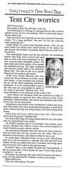 Tent City NEWS 2003-02-05 p3 02 (Maple Ridge Museum & Archives) Tags: mapleridge homeless homelessness shelter