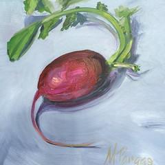 Summer Radish (MaryPargas) Tags: painting radish red vegetable