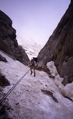 Abseiling in to the Rognon (andywalker1) Tags: andrewwalker americandirect dru petitdru chamonix alps alpineclimbing