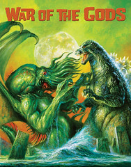 Cthulhu vs. Godzilla by Bob Eggleton, 2015 (Tom Simpson) Tags: cthulhu godzilla kaiju illustration bobeggleton painting art 2015 2010s monster godzillavscthulhu cthulhuvsgodzilla hplovecraft lovecraft cover famousmonsters