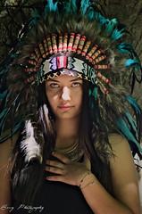 Nikita (Emy_Lye) Tags: nikon photography photo photographer photoshop woman portrait plumes amazonne amerindian feather nature fashion mode model emy nevers