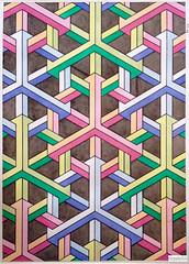 20160503 (regolo54) Tags: regolo54 geometry symmetry pattern isometric hexagon triangle mathart watercolor aquarelle escher
