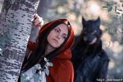 Nightmares of Red Riding Hood (fabrycstoleninstants) Tags: gothic goth model alternative red riding hood cappuccetto rosso lupo wolf fable favola canon 70d