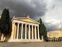 Dramatic Sky (Yohan Mar) Tags: athens greece travel photography nikon iphone6s iphone sky clouds dramaticsky hall trees ancient dramatic