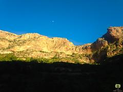 La lune surplombe les falaises d'El-Ourit (Ath Salem) Tags: algrie tlemcen mansourah histoire historique mosque masjid vestige hammam boughrara tourisme dcouverte promenade cascade elourit lalla setti