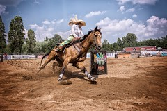 Rodeo (Petr Kleiner) Tags: woman rodeo run horses cowboy cowwoman fuji x100t competetions
