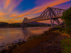 The Orange Trail (RS400) Tags: ornage orange cool wow amazing wicked water river yellow golden hour sun blue sky olympus bridge road landscape land scotland north