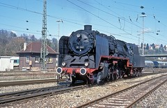 50 245  Tbingen  31.03.97 (w. + h. brutzer) Tags: tbingen dampfloks steam eisenbahn eisenbahnen train trains railway deutschland germany lokomotive locomotive zug 50 efz dampflok webru analog nikon