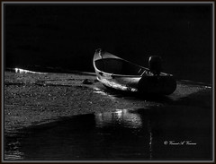 In the Glow (Visions by Vincent) Tags: b blackwhite boat greatphotographers