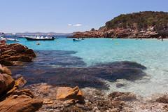Arcipelago della Maddalena (Ste.Zani) Tags: spiaggia mare sea maddalena sardegna italy italia acqua sunny holydays paesaggio landscape roccia boat barca allaperto