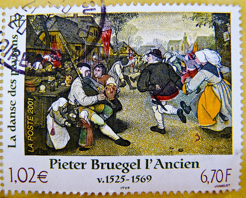 great stamp France € 1.02 postage 6,70 F Pieter Bruegel the Elder (1525-1569) l