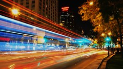 Magnificent Trails On The Mag Mile (Seth Oliver Photographic Art) Tags: nightphotography chicago hotel iso200 illinois nikon midwest skyscrapers cities cityscapes nightshots lighttrails pinoy downtownchicago nightscapes urbanscapes secondcity magnificentmile allerton windycity longexposures chicagoist d90 15secondexposure tonemapped cityofbigshoulders nighttrails setholiver1 aperturef160 18105mmnikkorlens tripodmountedshot manualmodeepxosure croppedforcomp