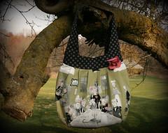 Ghastlies Birdie Sling (PolkadotSparrow (April)) Tags: fall halloween fabric purse polkadot amybutler alexanderhenry ghastlies birdiesling