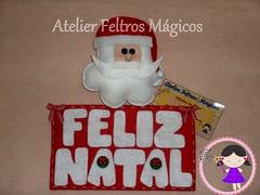 Mais um para enfeitar uma portinha! (Atelier Feltros Mgicos) Tags: natal guirlanda feliznatal feltro papainoel molde atelier tecido enfeite