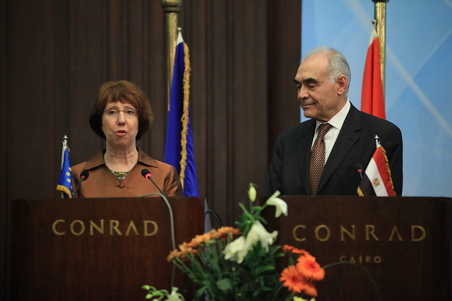 Joint press conference with Catherine Ashton and Mohamed Kamel Ali Amr