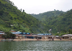 Nkora village on Kivu lake, Rwanda (Eric Lafforgue) Tags: africa people house water outdoors eau rwanda afrika commonwealth greatlake afrique 1150 eastafrica lakekivu centralafrica kinyarwanda ruanda lackivu grandlac afriquecentrale  kivulake    republicofrwanda   ruandesa
