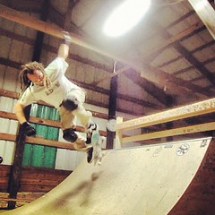 "backside ollie #skateboard #skateboarding #skateeverydamnday #halfpipe #barn • <a style=""font-size:0.8em;"" href=""http://www.flickr.com/photos/99295536@N00/8203891113/"" target=""_blank"">View on Flickr</a>"