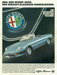 Alfa Romeo Spider 2000 (coconv) Tags: pictures auto old classic cars car vintage magazine ads advertising cards spider photo flyer automobile 2000 post image photos antique album postcard ad picture images advertisement vehicles photographs card photograph postcards alfa romeo vehicle autos collectible collectors brochure automobiles dealer prestige