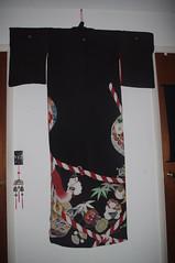 Formal Black Hikizuri w Karako (TsurukoMaiko) Tags: vintage antique silk maiko geiko geisha kimono showa hanamachi taisho kinsha kagai hikizuri susohiki