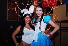 Mad Hatters Tea Party 11 (4ELEVEN Images) Tags: girls friends party summer beautiful smile club austin fun costume nikon texas dancers crowd fresh rave gogo brunette lovely groupshot ravers d5000 area512 4eleven