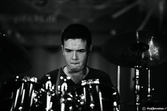 Concentration (Thijs Tennekes) Tags: school bw white black drums sticks drum practice rolling 2012 thijs gouda thys tennekes rollingsticks