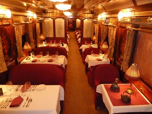 AL Andalus - luxury train in Spain, restaurant car