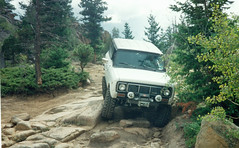 Jeep Trail (coconv) Tags: pictures auto old mountain mountains classic cars car vintage ads rockies photo a