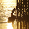 Myanmar | fisher at sunset, Inlay lake (Solomulala | mostly weekends ;-( !) Tags: light sunset water de fisherman burma c myanmar inlelake muriel 2012 jong birmania inlaylake solomulala