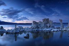 lots of blue (bertdennisonphotography) Tags: california blue sky lake seascape nature water clouds canon reflections landscape bluehour monolake tufas monocounty