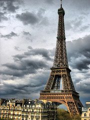 Eiffel Tower (photphobia) Tags: cloud paris france tower clouds cloudy eiffeltower eiffel hdr