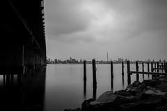 Segments (Tim Archer Photos) Tags: longexposure bridge blackandwhite white lake clouds nikon empty australian australia wharf nsw nikkor wallis nothingness monchrome ndfilter d600 nd400 nd9 2470mmf28g afsnikkor2470mmf28ged