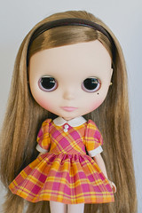 Pink and Yellow Plaid Dress