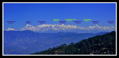 A Panoramic View of Himalayan Range from Ranikhet (Siddhartha Das) Tags: panorama nandadevi ranikhet d90 himalayanrange kumaon uttarakhand 70300vr nandaghunti trisul maiktoli dangthal chhanguch mrigathuni nandaghat nandakut