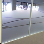 Hand cut Frosted film designs