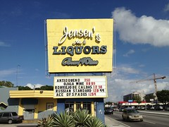 Jensen's Liquors Sign
