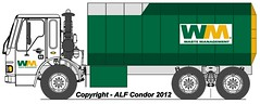 Waste Management ALF Condor/Amrep Octo ASL Drawing (ALF Condor) Tags: usa france green art yellow truck la garbage diesel body drawing cab united side low detroit over engine alf wm line sl management american series tall sterling states chassis tandem waste condor refuse custom loader shape load 60 octagon cad sanitation solid lafrance automated asl fictional octo axle freightliner amrep lcoe 8v92