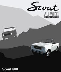 scout800poster copy (samuelbowman) Tags: classiccar graphic internationalscout internationalharvester scoutii scout2 carposter blockprintstyle
