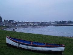 Ballywalter Boat (divnic) Tags: sunset sea beach clouds boat down northernireland ni ballywalter northchannel redskyatnight countydown irishsea rowingboat ards whitkirk whiteboat ardspeninsula boroughofards ardsdistrict